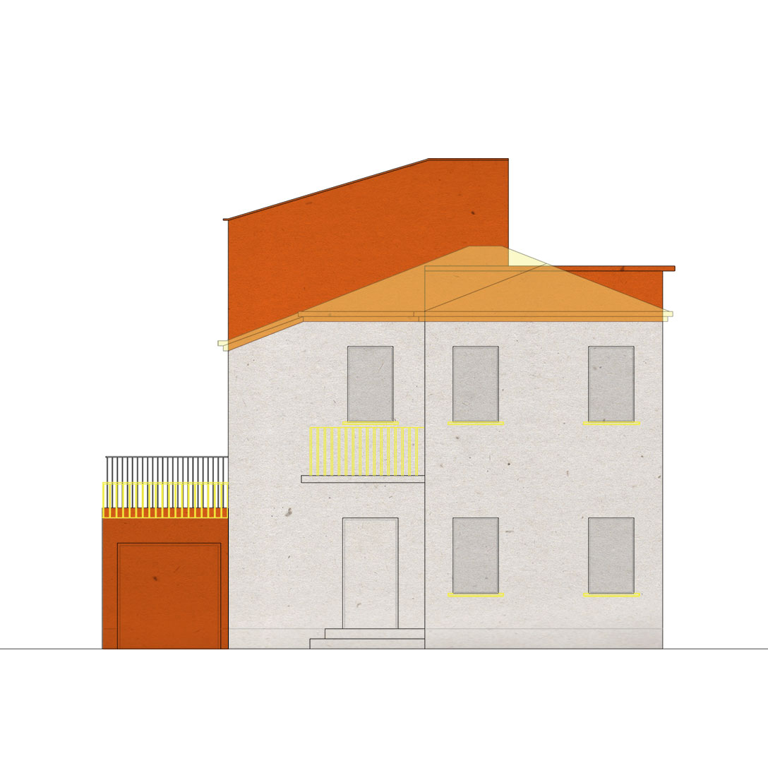 BSP - Renovation of A. House - Padova - Elevation